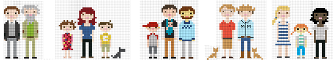 Gay family crossstitch