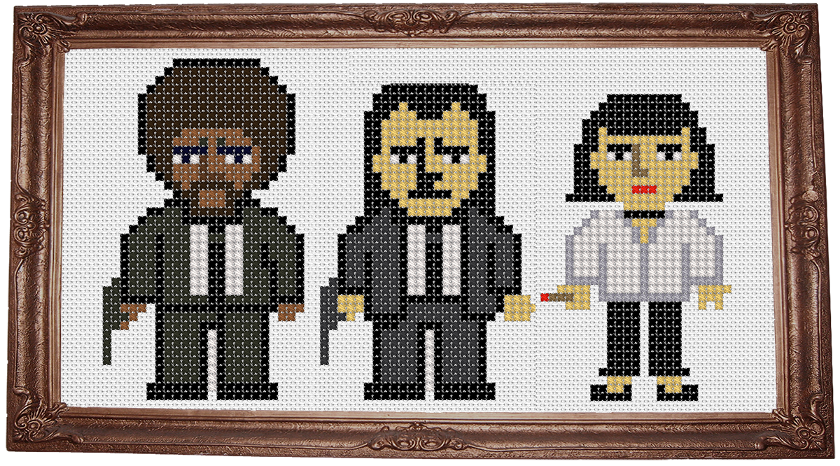 Pulo fiction cross stitch pattern